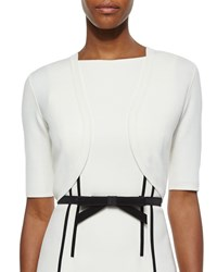 Michael Kors Merino Cropped Shrug White