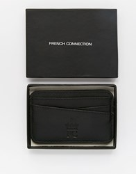 French Connection Leather Wallet With Plaque Brown