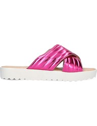 Miss Kg Dee Quilted Metallic Sandals Pink