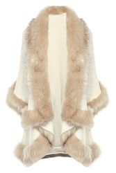 Coast Kate Faux Fur Cape Cream