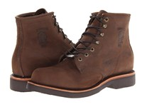 Chippewa American Handcrafted Gq Apache Lacer Boot Brown Men's Work Lace Up Boots
