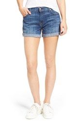7 For All Mankindr Women's Mankind Relaxed High Rise Denim Shorts
