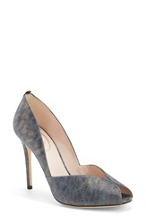 Sarah Jessica Parker Sjp 'Naomi' Peep Toe Pump Women Nordstrom Exclusive Blue Leopard Leather