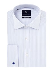 Chester Barrie James Classic Fit Striped Shirt Grey