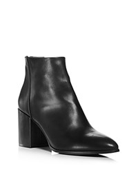 Aqua Dante Pointed Toe Leather Booties 100 Exclusive Black