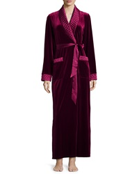Jonquil Taylor Velvet Long Wrap Robe Red