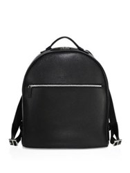 Salvatore Ferragamo Textured Calfskin Leather Backpack Black