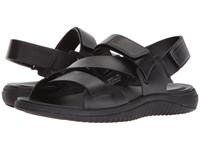 Cole Haan 2.Zerogrand Multi Strap Sandal Black Leather Black Sandals