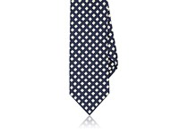 Drakes Drake's Men's Diamond Print Silk Necktie Navy