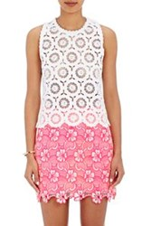 Emanuel Ungaro Crocheted Lace Top White
