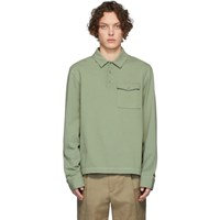 Joseph Green Heavy Jersey Long Sleeve Polo