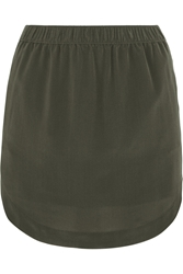 Madewell Elin Washed Silk Mini Skirt