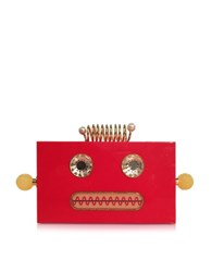Charlotte Olympia Roby Primary Red Perspex Clutch Box