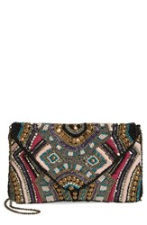 Sole Society Clarissa Beaded Flap Clutch