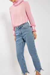 Topshop Straight Leg Jeans By Boutique Mid Stone