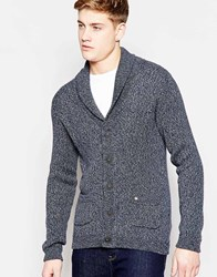 Jack And Jones Jack And Jones Shawl Collar Cardigan In Mixed Yarns Red