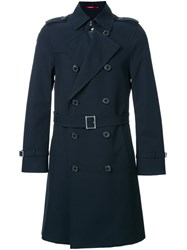 Loveless Double Breasted Coat Blue