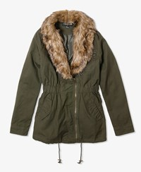 Forever 21 Jacket W Faux Fur Collar