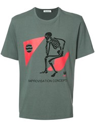Undercover Skeleton Print T Shirt Grey