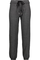 Current Elliott The Varsity Cotton Blend Track Pants Charcoal