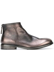 Marsell Metallic Grey Ankle Boots