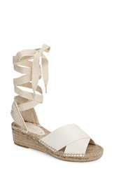 Soludos Women's Espadrille Wedge Ivory Leather