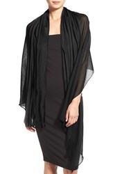Women's Echo Wool And Silk Oblong Scarf Black