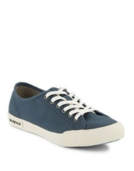 Seavees Textured Lace Up Sneakers Navy