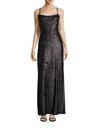 Bcbgmaxazria Gisselle Sequined Gown Black