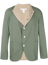 Comme Des Garcons Shirt Contrast Blazer Men Cotton M Green