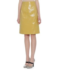 Bottega Veneta Patent Leather A Line Skirt Helios