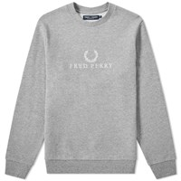 Fred Perry Embroidered Sweat Grey