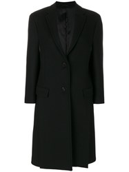 Neil Barrett Single Breasted Coat Women Polyester Viscose Cashmere Virgin Wool 40 Black