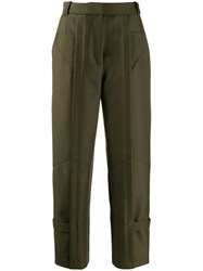 Barbara Bui High Waisted Trousers Green