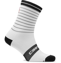 Castelli Podio Doppio 13 Antibacterial Cycling Socks White