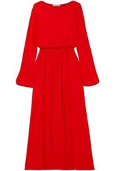 Elizabeth And James Woman Evy Gathered Stretch Jersey Maxi Dress Red