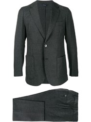 Tombolini Two Piece Check Suit Grey