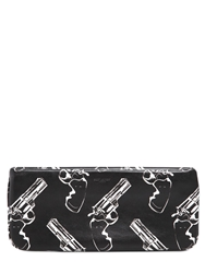 Saint Laurent Envelope Printed Leather Pouch Black White