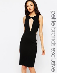 John Zack Petite Cut Out Fitted Pencil Dress Black