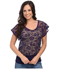 Ariat Medallion Top Deep Purple Women's Short Sleeve Pullover