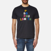 Paul Smith Ps By Men's Large Logo Crew Neck T Shirt Navy Blue