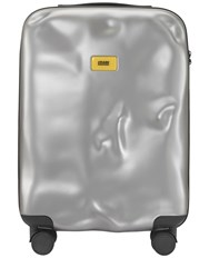 Crash Baggage 40L 4 Wheel Icon Cabin Carry On Trolley Metal Silver