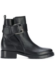 Lanvin Buckle Ankle Boots Black