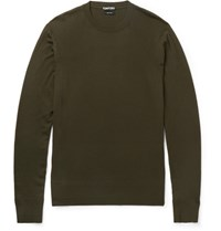 Tom Ford Slim Fit Wool Sweater Green