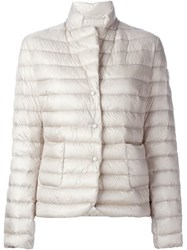 Moncler 'Leyla' Puffer Jacket Nude And Neutrals