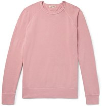 Alex Mill Loopback Cotton Jersey Sweatshirt Pink