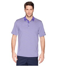 Callaway Refined 3 Color Stripe Polo Liberty Clothing Gray