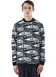 Marius Petrus Graphic Crew Neck Sweater Black
