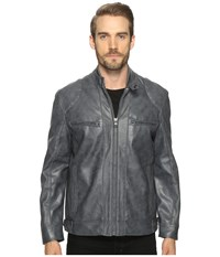Marc New York Corwin Moto Jacket Iron Men's Coat Brown