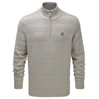Henri Lloyd Norbeck Regular Half Zip Knit Grey Marl